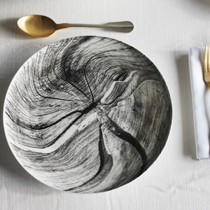 Woodcut Ceramic Plate - home wedding gifts