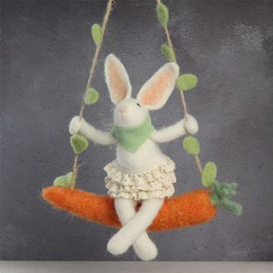 Carrot Swing Easter Bunny Decoration - easter decorations