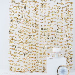 Gold Foil Flower Backdrop Bunting Decoration