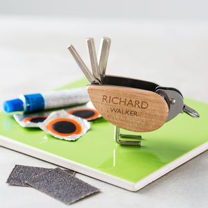 Personalised Bicycle Tool And Puncture Repair Kit - part dad part