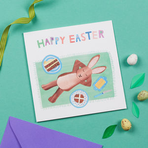 Easter Rabbit Picnic Card