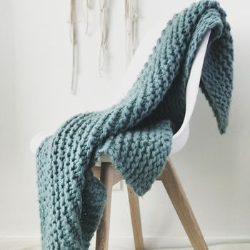 Blanket Knit Kit Super Chunky Diy Giant Throw
