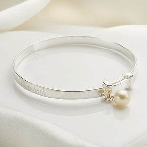 Personalised My First Pearl Christening Bangle - top 50 christening gifts
