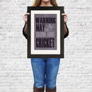 'Warning May Start Talking About..' Framed Print