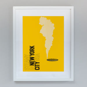 Destination New York City | Hand Screen Print