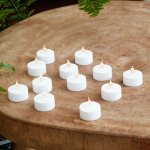 Set Of Twelve Battery LED Tea Lights - home accessories