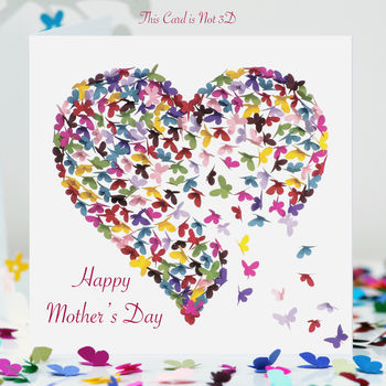 Kaleidoscope Butterfly Mother's Day Card