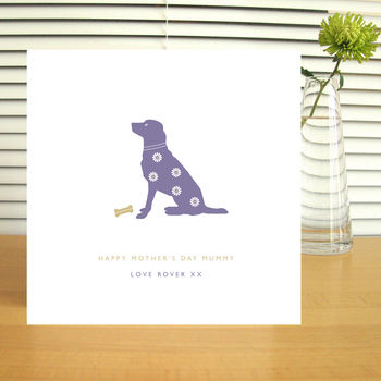 Personalised Dog Lovers Mother's Day Card