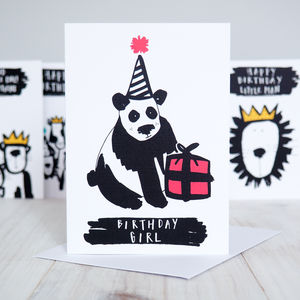 Birthday Girl Panda Birthday Card