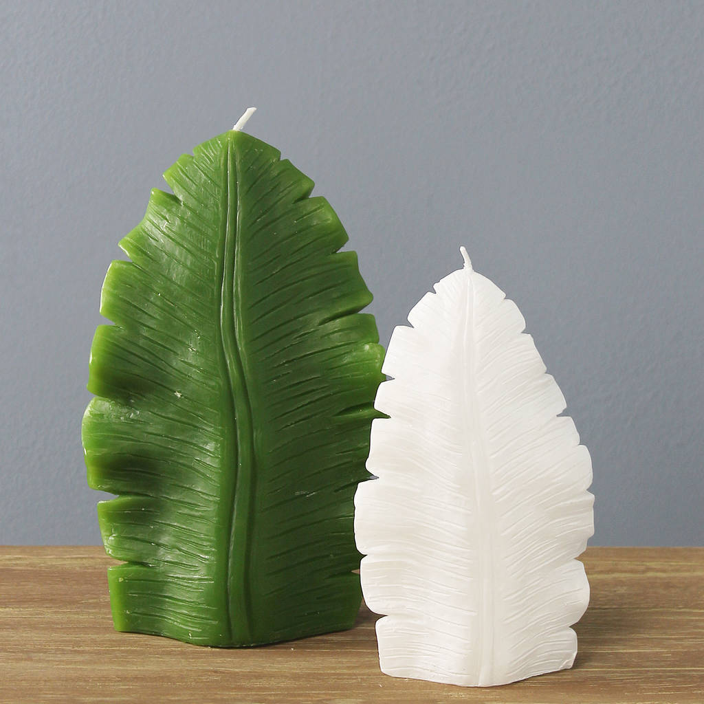 Tropical Leaf Candle Set