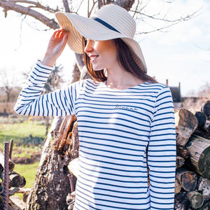 Personalised Women's Breton Top - weekend break travel accessories