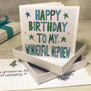 Personalised Nephew Birthday Book Card