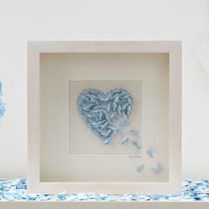 Engagement Butterfly Heart Picture Personalised