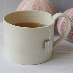 Hand Thrown Porcelain Straight Sided Mug