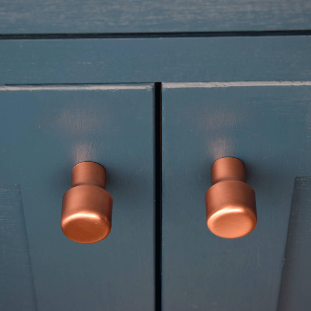 raised copper knob by proper copper design. Black Bedroom Furniture Sets. Home Design Ideas