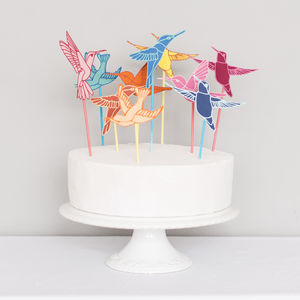 Hummingbird Wedding Cake Topper - cake toppers & decorations