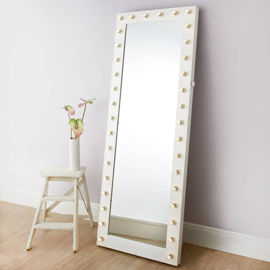 Satin hollywood tall cheval mirror by reflections of me for Tall framed mirror