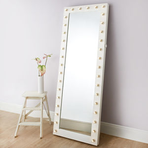 Satin Hollywood Tall Cheval Mirror - decorative accessories