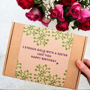 Sister Happy Birthday Face Mask Kit Personalised Gift - organic pampering sets