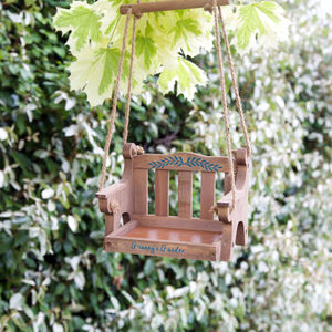 Personalised Swinging Bird Table - birds & wildlife