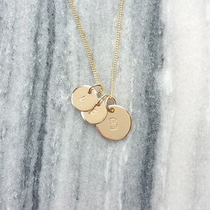Gold Family Initials Necklace - necklaces & pendants