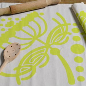 Fennel Screen Printed Tea Towel