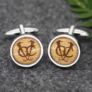 Personalised Wooden Logo Cufflinks