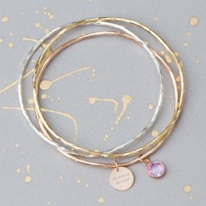 'She Believed She Could So She Did' Bangle - bracelets & bangles
