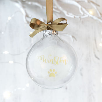 Personalised Christmas Bauble For Pets