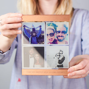 Personalised Glass And Copper Photo Print - new in home