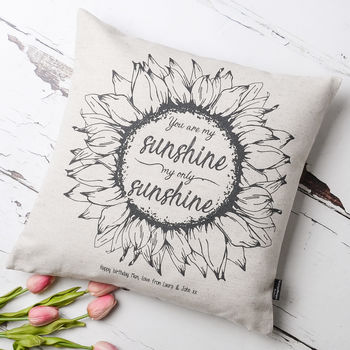You Are My Sunshine Personalised Cushion Cover