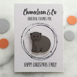 Baby Bear Enamel Pin - jewellery sale