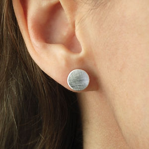 Etched Disc Earrings