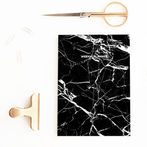 Black Marble Undated Weekly Planner - 2017 & 2018 diaries