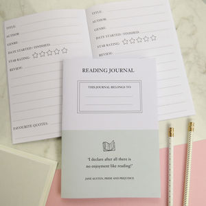 Reading Journal - back to school essentials
