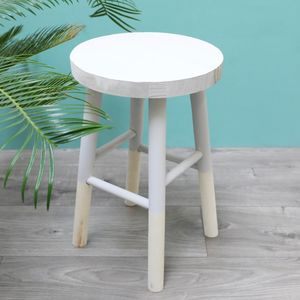 Small Grey Wooden Decorative Table