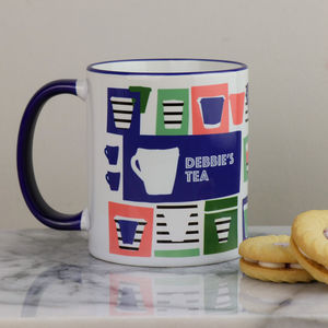 Personalised Mug Retro Cup Patterned