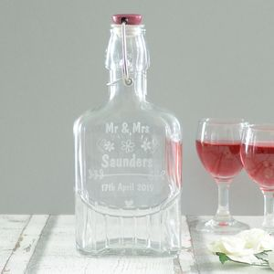 Personalised Wedding Sloe Gin Bottle