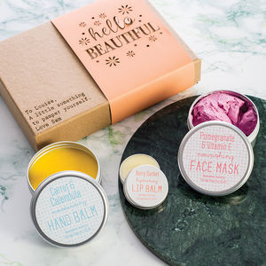 'Hello Beautiful' Personalised Pamper Set - skin care