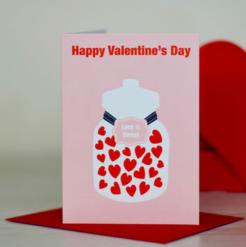 'Love Is Sweet' Valentine's Day Card