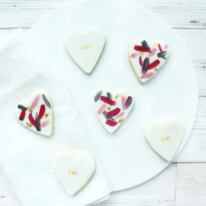 Personalised Heart Sugar Cookies
