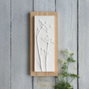 Cow Parsley Plaster Cast Plaque On Wood