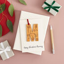Personalised Engraved Letter Keepsake Card