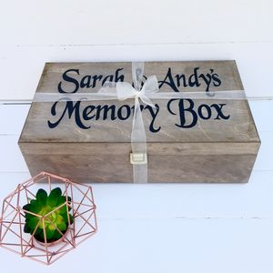 Personalised Memory Box - wedding cards & wrap