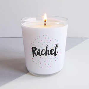 Personalised Confetti Candle - candles & home fragrance