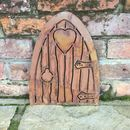 Rusted Metal Elf Fairy Door
