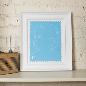 Kids First Birthday 'Stamp' Portrait - children's room