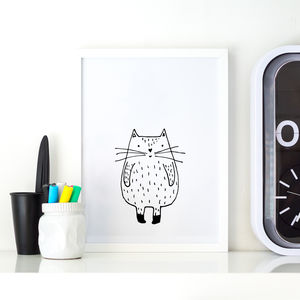 Cat Illustration Print
