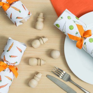 Sprouts, Carrots, And Snowmen Christmas Crackers - christmas sale