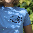 Eat Pizza Stroke Cats Screenprinted T Shirt